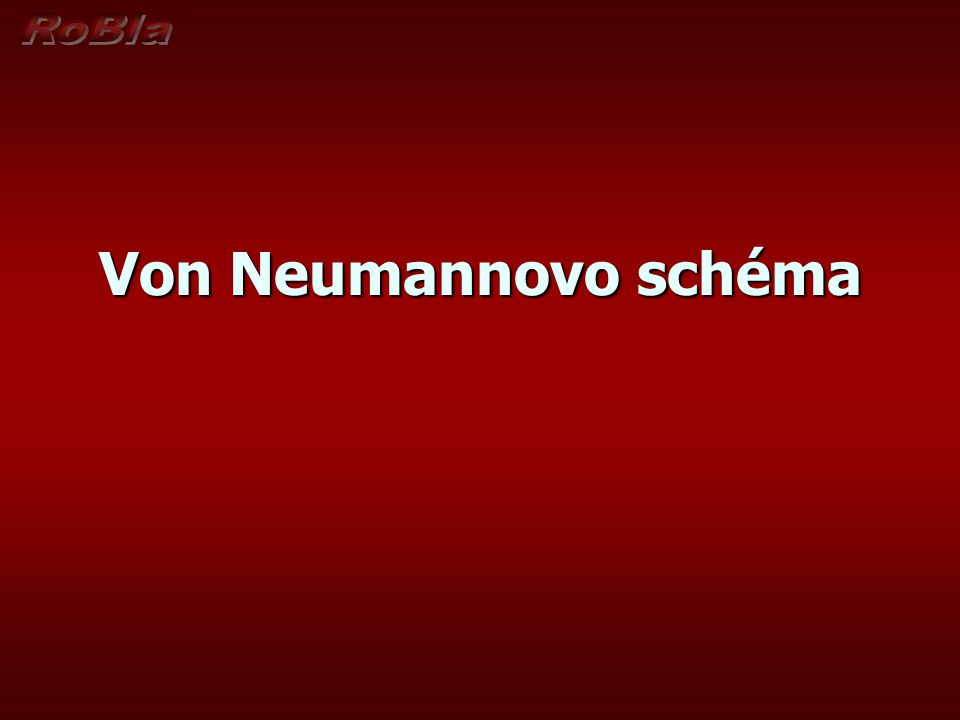 Von Neumannovo schéma