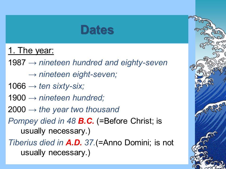 Dates 2.