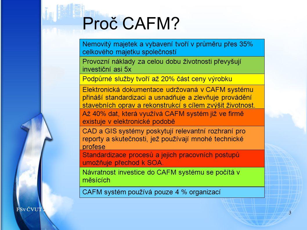 4 FSv ČVUT 2010 GB = JOB GREEN BUILDING a CAFM FM a CAFM musí poskytovat funkcionalitu po celou dobu Výše profitu Vysoké riziko Správa, údržba, FM Realizace stavby Koncepční návrh Projekční činnost Inženýrská činnost Demolice, likvidace