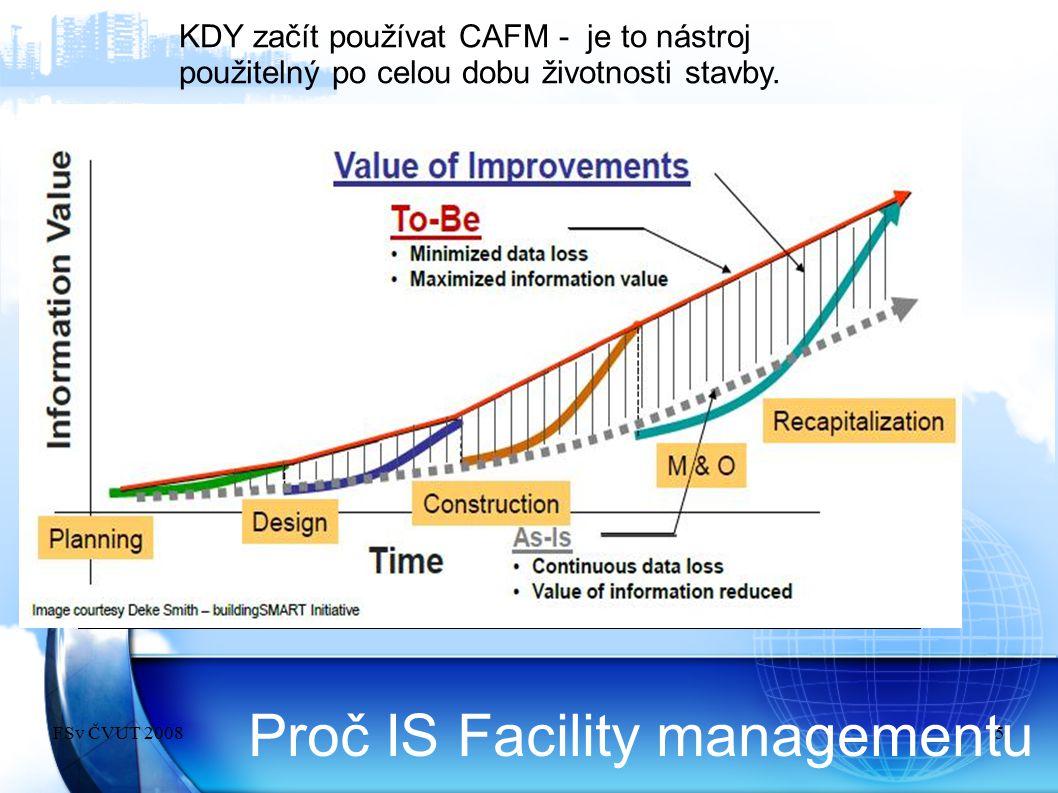 Proč IS Facility managementu KDY začít používat CAFM - je to nástroj použitelný po celou dobu životnosti stavby. FSv ČVUT 20085