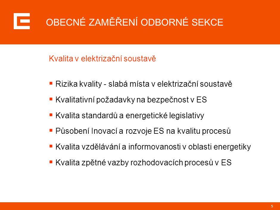 """6 NOVÁ SEKCE RADY KVALITY ČR """"KVALITA V ENERGETICE Děkuji za pozornost"""