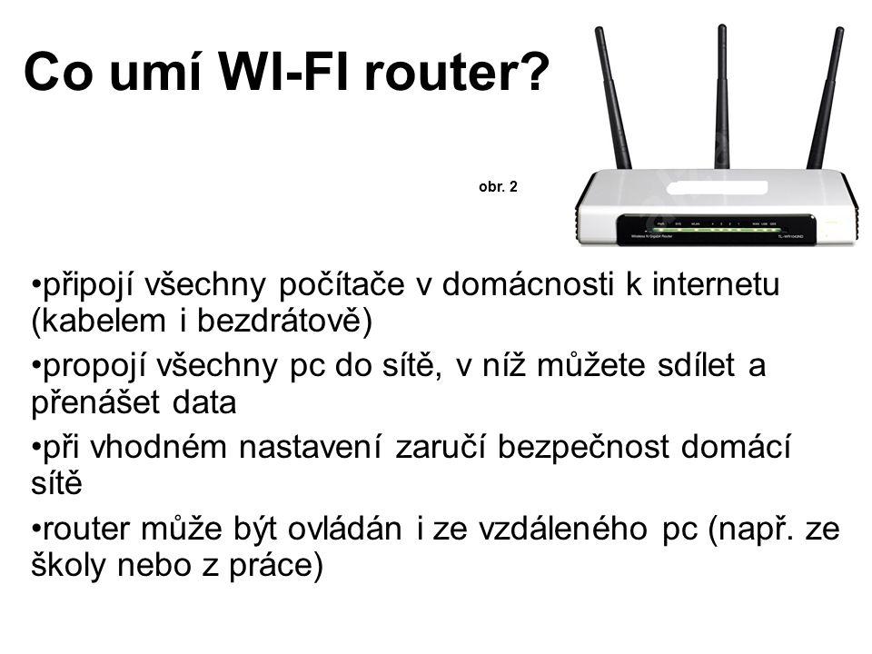 Switch - přepínač nahrazuje hub, používá kroucenou dvojlinku přepíná pakety na linkové vrstvě (data jsou poslána pouze adresátovi) každý uzel je přímo propojen se switchem při komunikaci dvou uzlů je využita plná přenosová kapacita (uzly se o kapacitu s nikým nedělí) přináší do sítě větší bezpečnost (data nejsou posílána všem)