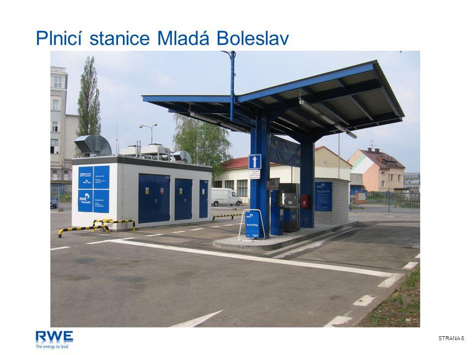 STRANA 7 Plnicí stanice CNG >Do roku 2020 bude plynárenskými společnostmi postaveno 100 plnicích stanic dle podepsané dohody s vládou ČR.