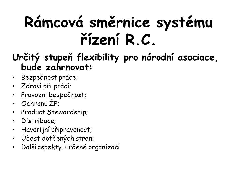 Rámcová směrnice systému řízení R.C.