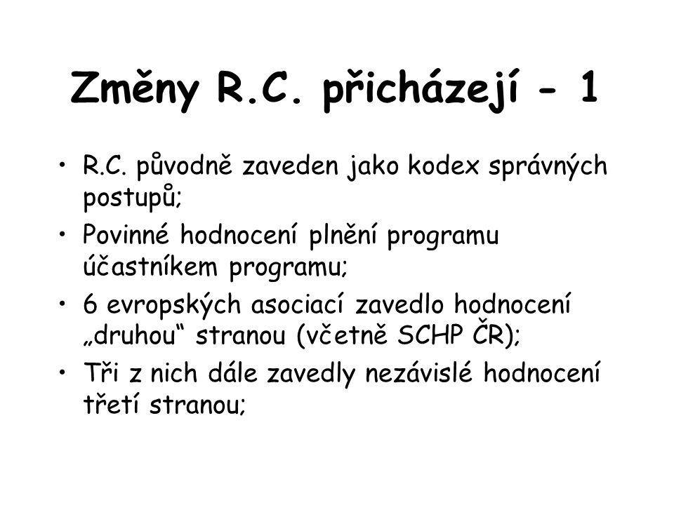 Změny R.C.přicházejí - 1 R.C.