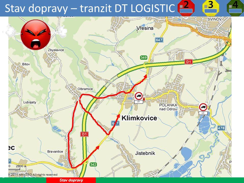 Stav dopravy – tranzit DT LOGISTIC 12 Stav dopravy 12t