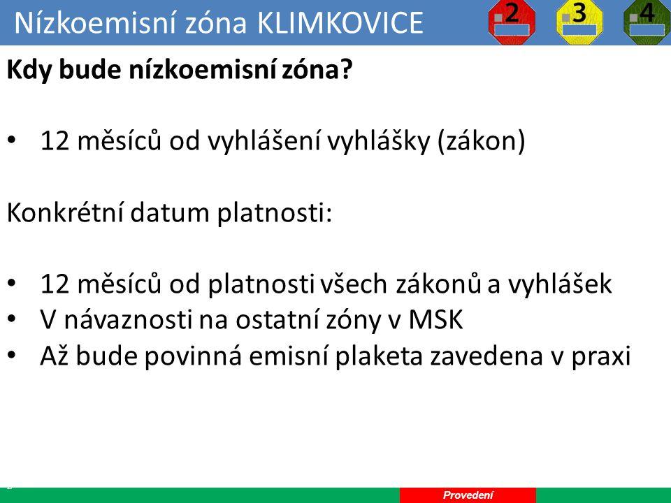 Nízkoemisní zóna KLIMKOVICE 22 Kdy bude nízkoemisní zóna.