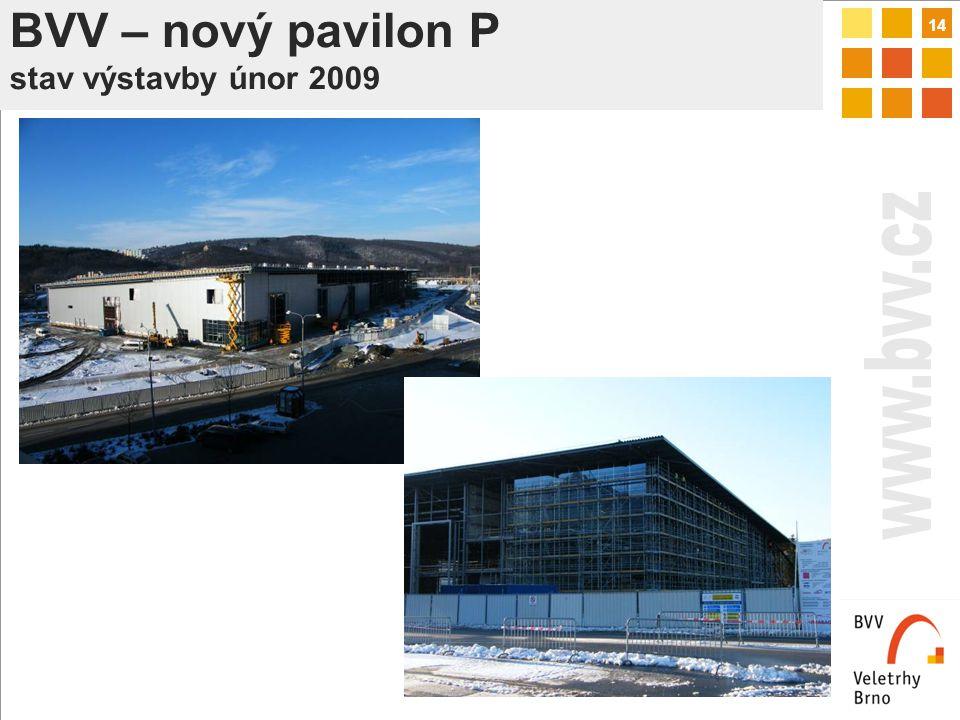 14 BVV – nový pavilon P stav výstavby únor 2009
