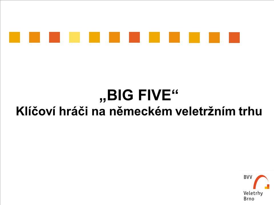 """""""BIG FIVE Klíčoví hráči na německém veletržním trhu"""