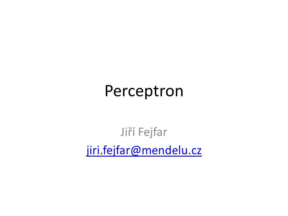 Perceptron Jiří Fejfar jiri.fejfar@mendelu.cz