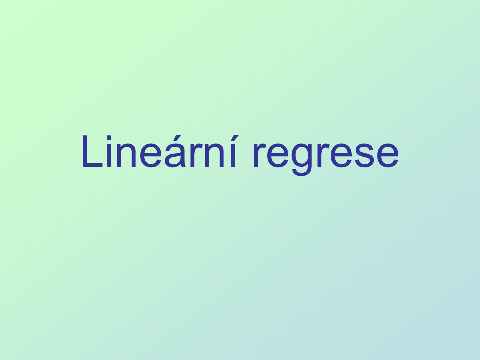 Lineární regrese