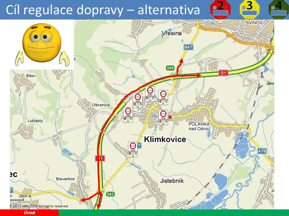 Cíl regulace dopravy – alternativa 18 Úvod Nízkoemisní zóna je nejméně účinné řešení problematiky tranzitní dopravy přes Klimkovice, ale jako jediné je v rukou samosprávy.