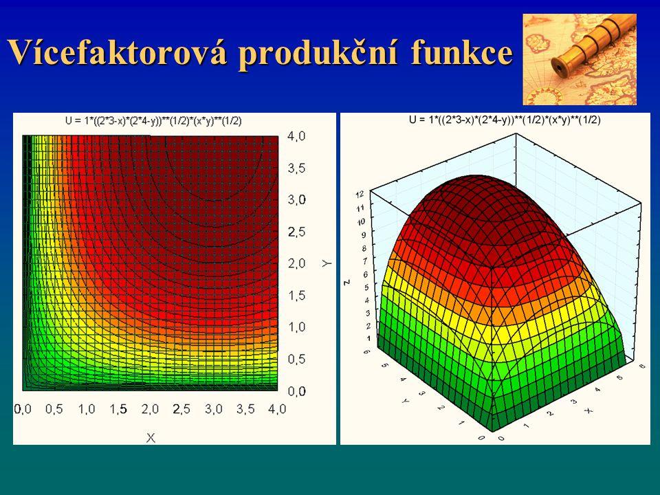 Vícefaktorová produkční funkce