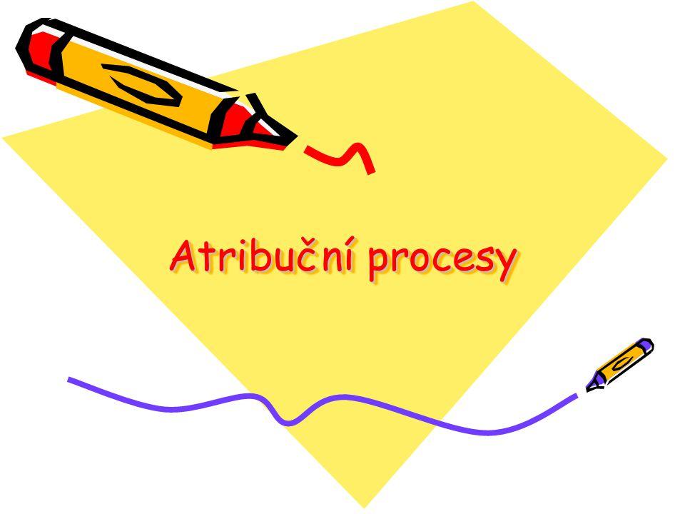Atribuční procesy