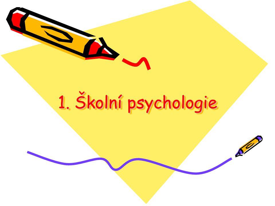 1. Školní psychologie