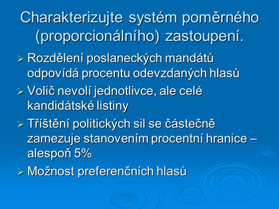 Jaké je aktivní volební právo při volbách do PS.