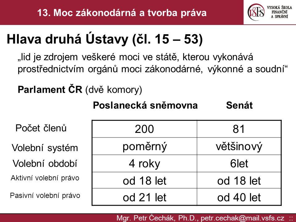 Mgr.Petr Čechák, Ph.D., petr.cechak@mail.vsfs.cz :: 13.