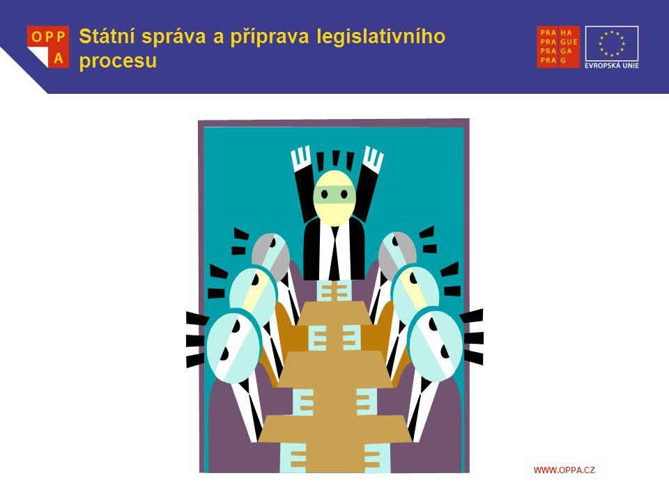 WWW.OPPA.CZ Státní správa a příprava legislativního procesu