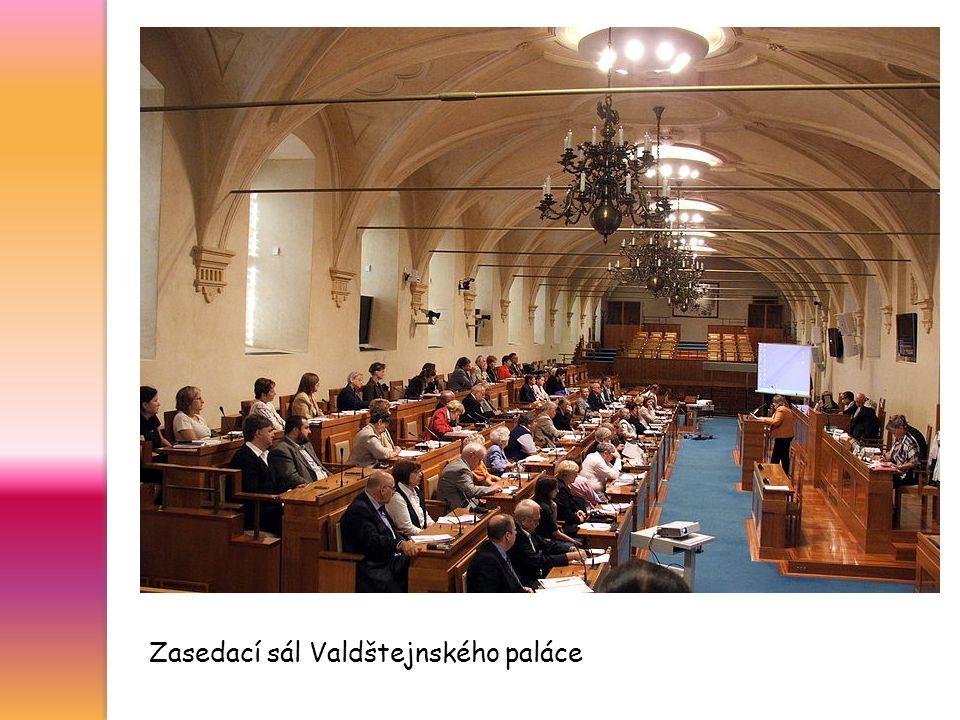 Zasedací sál Valdštejnského paláce