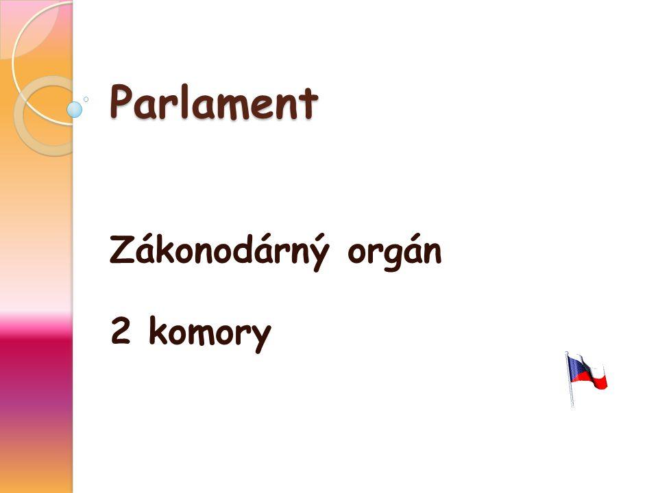 Parlament Zákonodárný orgán 2 komory