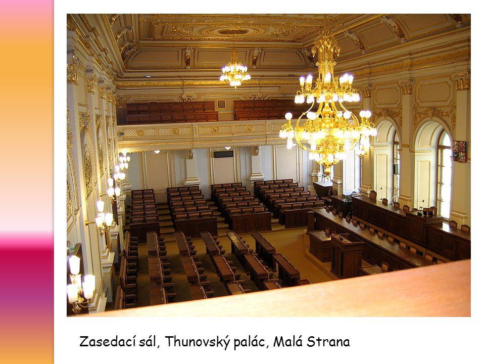 Zasedací sál, Thunovský palác, Malá Strana