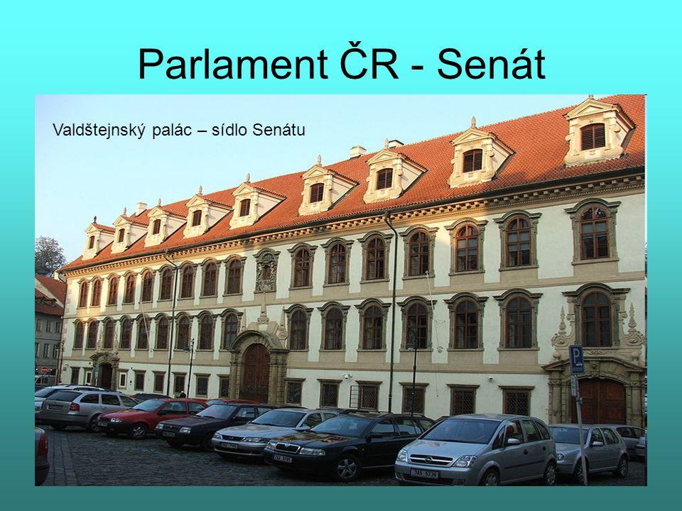 Parlament ČR - Senát Valdštejnský palác – sídlo Senátu