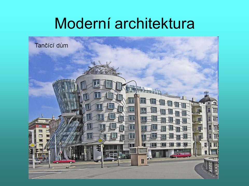 Moderní architektura Tančící dům