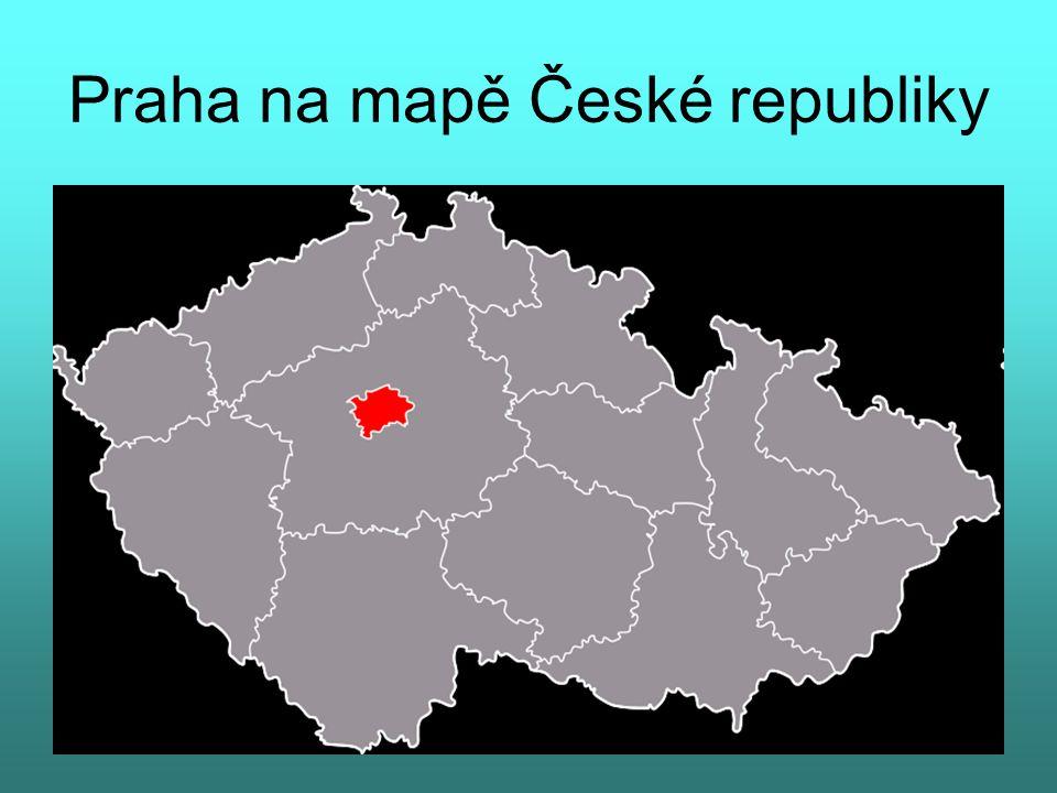 Praha na mapě České republiky