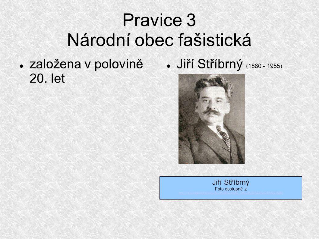 Pravice 3 Národní obec fašistická založena v polovině 20.