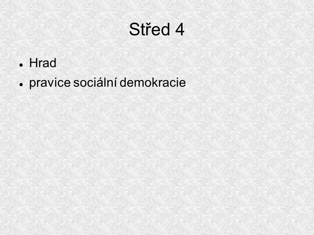Střed 4 Hrad pravice sociální demokracie