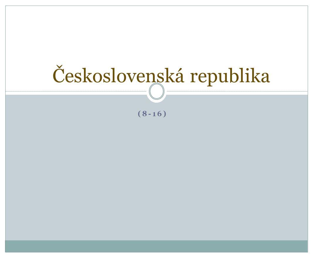 (8-16) Československá republika