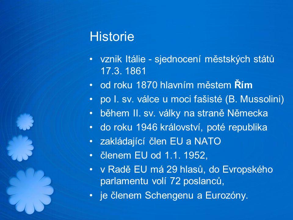 Historie vznik Itálie - sjednocení městských států 17.3.
