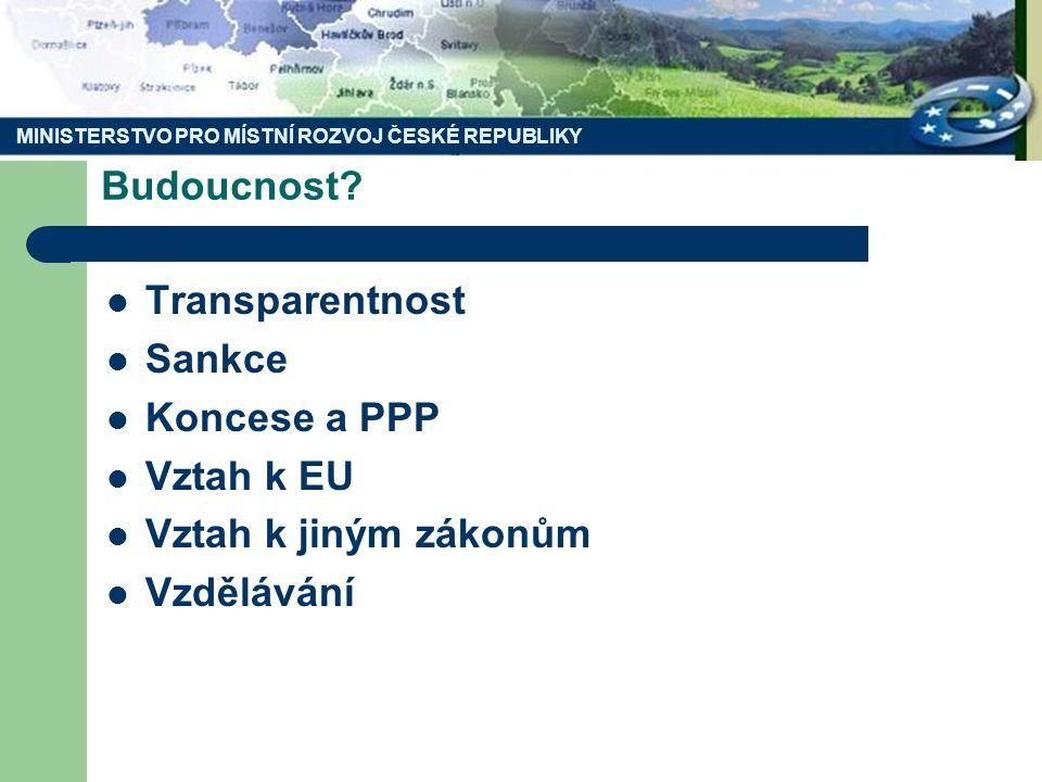 MINISTERSTVO PRO MÍSTNÍ ROZVOJ ČESKÉ REPUBLIKY Budoucnost.