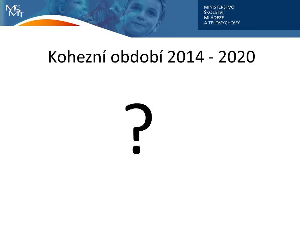 Kohezní období 2014 - 2020