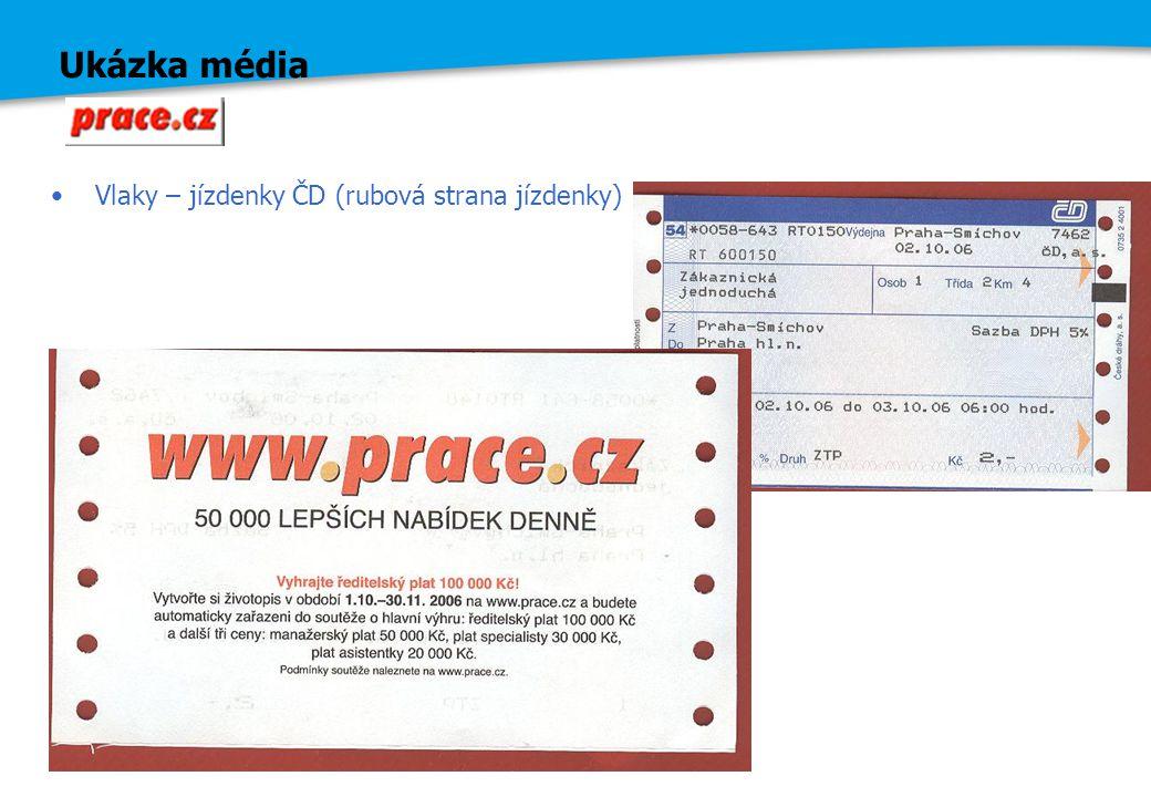 Ukázka média Vlaky – jízdenky ČD (rubová strana jízdenky)