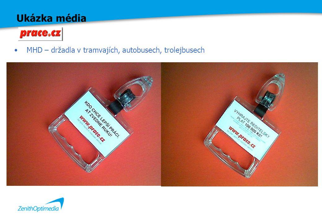 Ukázka média MHD – držadla v tramvajích, autobusech, trolejbusech