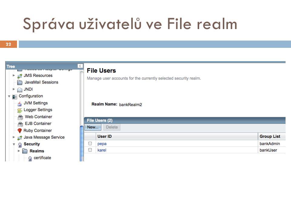 Správa uživatelů ve File realm 22