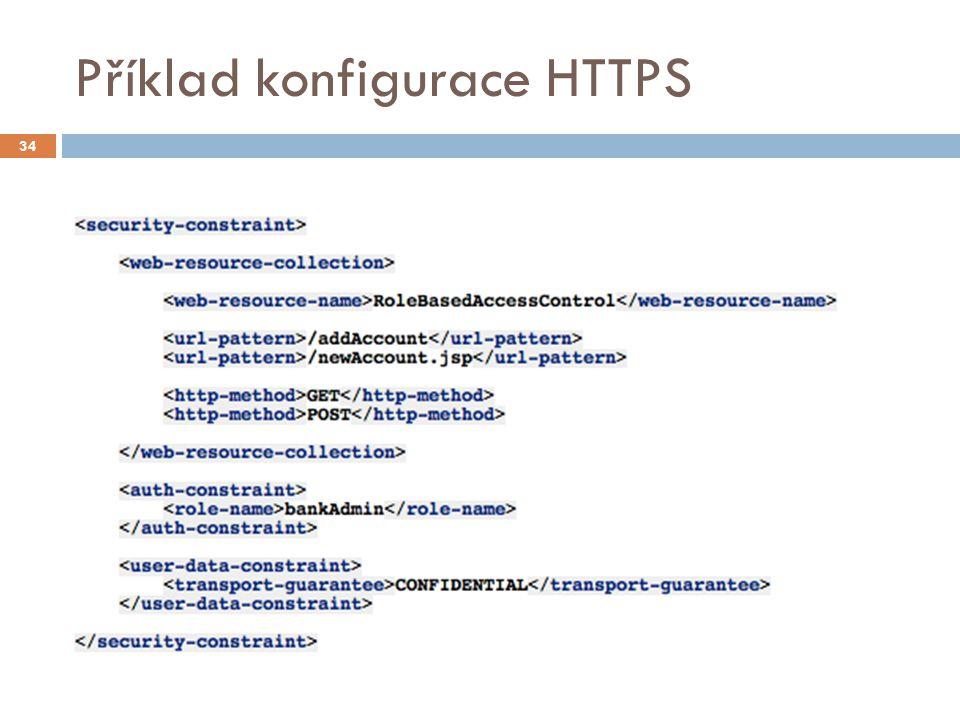 Příklad konfigurace HTTPS 34