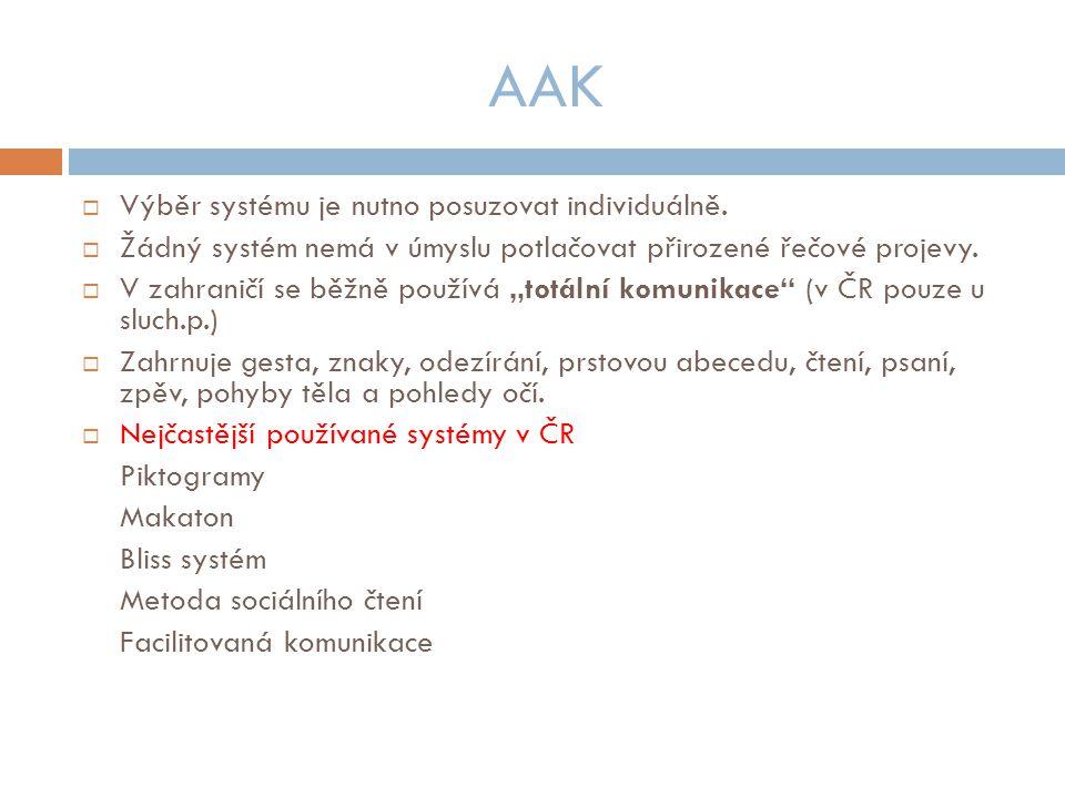 AAK  Výběr systému je nutno posuzovat individuálně.