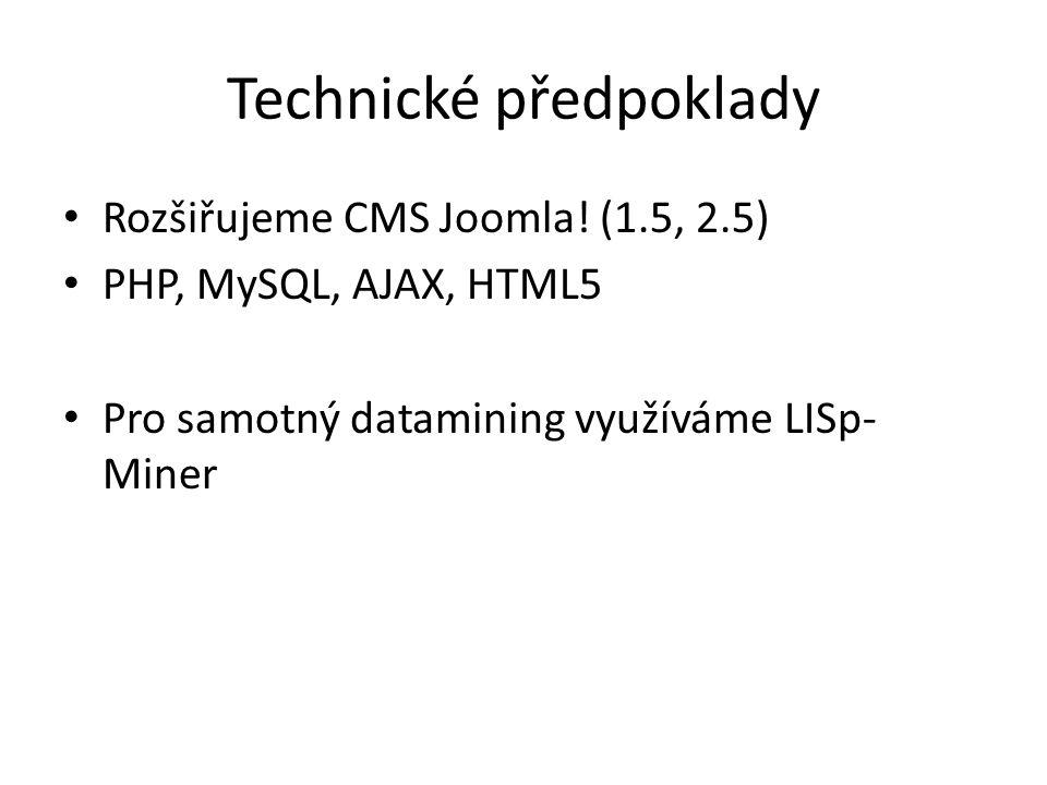 Technické předpoklady Rozšiřujeme CMS Joomla.