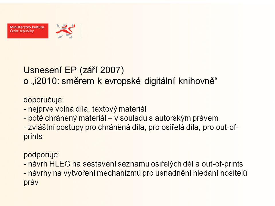 Usnesení EP (září 2007) - pokr.