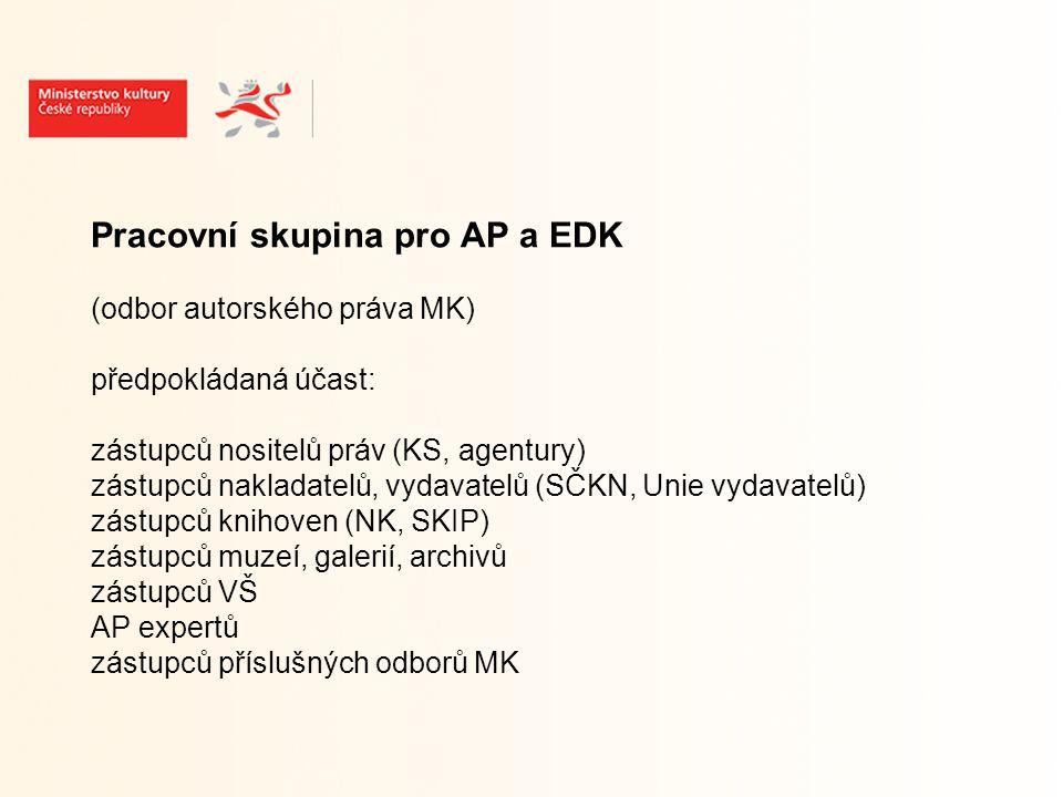 Pracovní skupina pro AP a EDK 1.schůzka - 19.