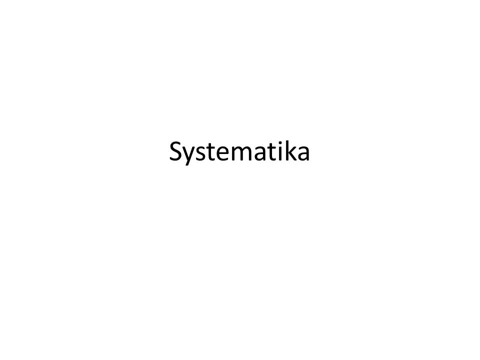 Systematika