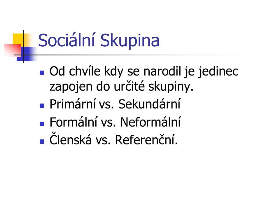Psychologie II. 2008 Sociální psychologie Téma č.9: Sociální skupiny, členění, postavení jedince ve skupině.