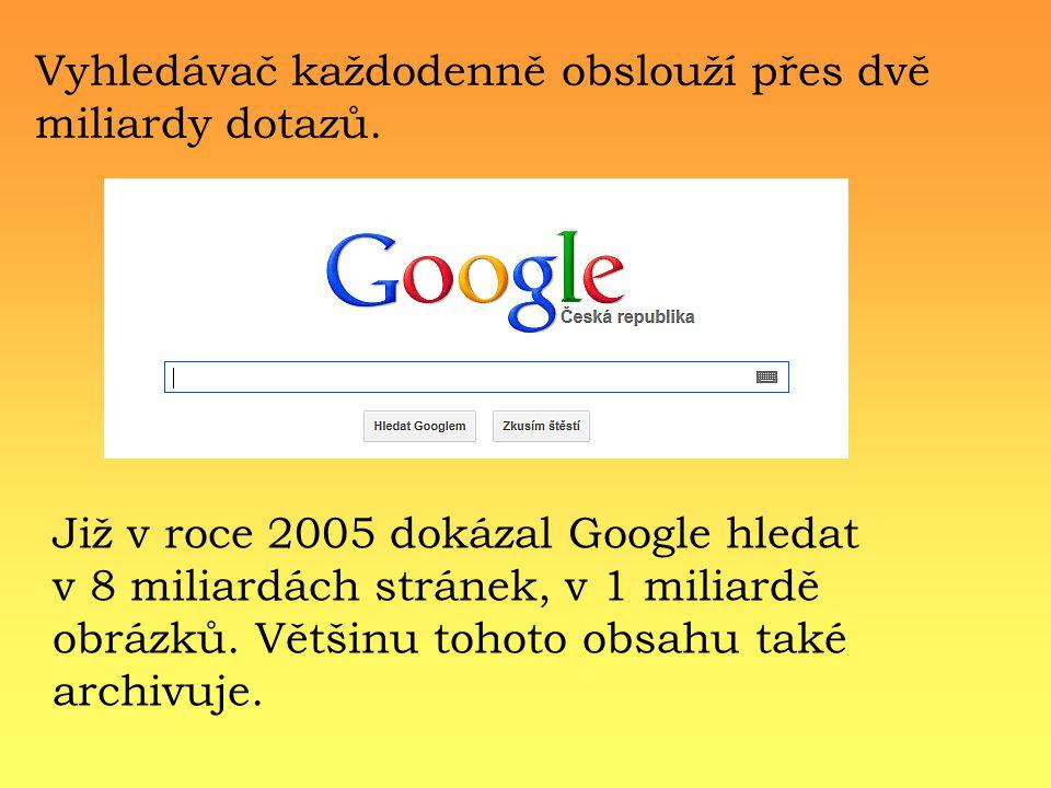 Vyhledávač každodenně obslouží přes dvě miliardy dotazů.