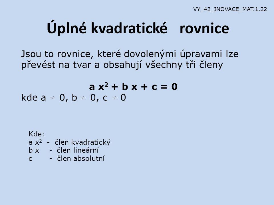 1.) Rovnice, které lze řešit rozkladem k.