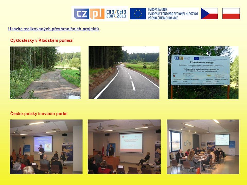 Ukázka realizovaných přeshraničních projektů Česko-polský inovační portál Cyklostezky v Kladském pomezí