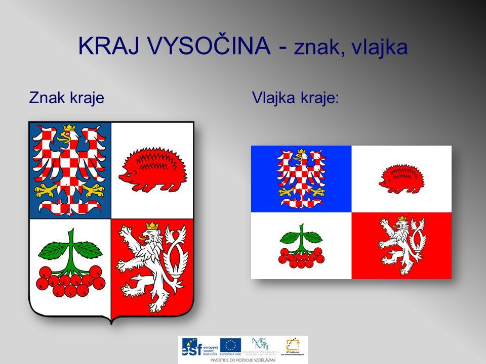 KRAJ VYSOČINA - znak, vlajka Znak krajeVlajka kraje:
