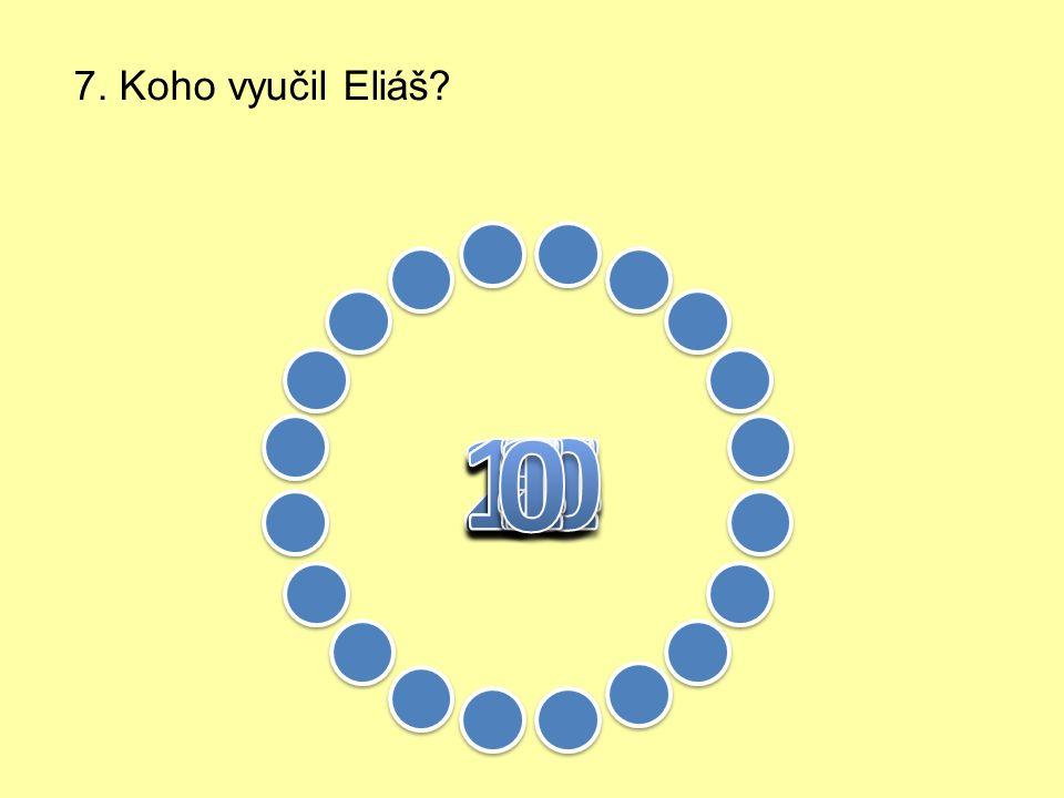 6. Jak se choval Eliáš k Hospodinu
