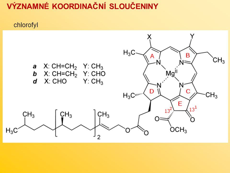 VÝZNAMNÉ KOORDINAČNÍ SLOUČENINY chlorofyl